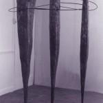 1984-drie Gratien-gips, ijzer, 230x120x100cm