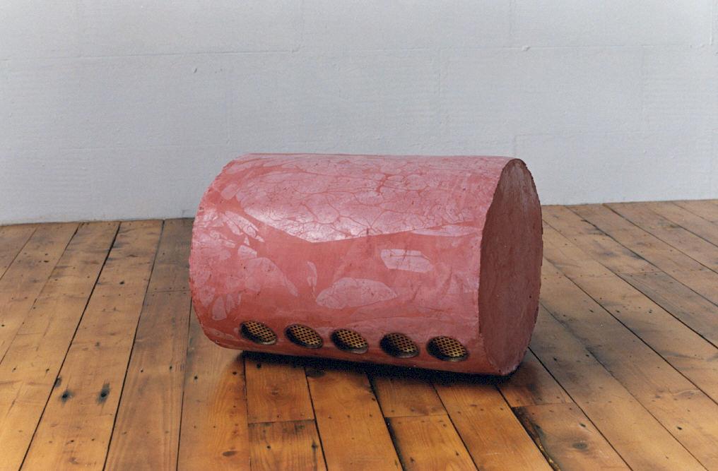 1990-aqua 5, cement, koper, 40x50cm