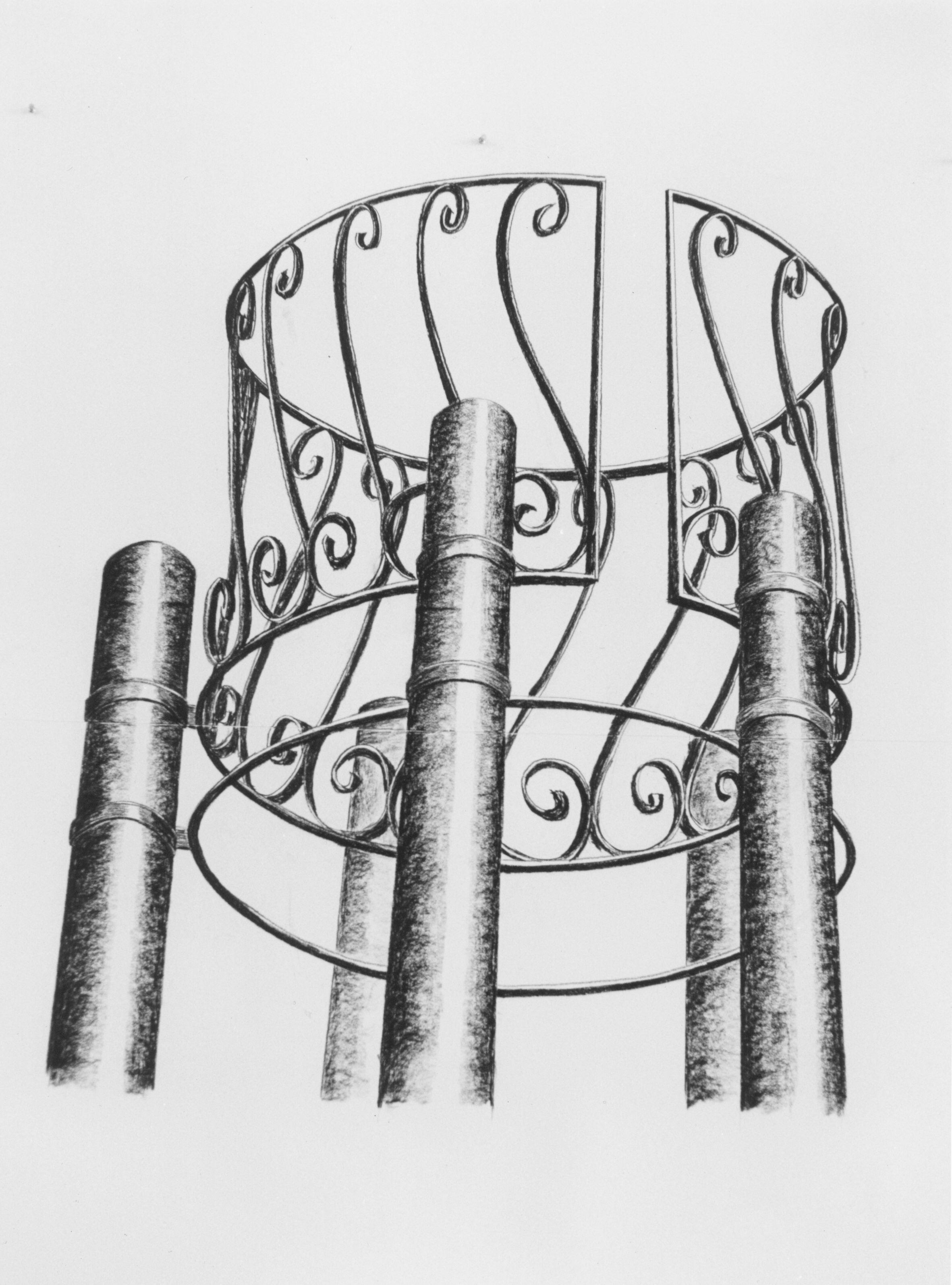 1993-Plaats voor zieleheil, conte op papier, 160x90cm