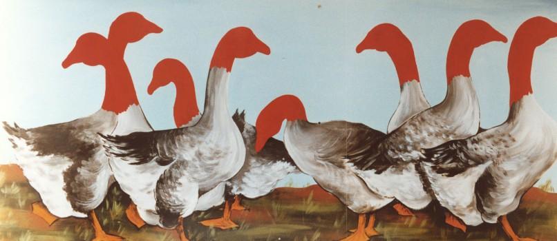 1995-Drievoudige ontkenning- foto's, lak, perspex, 134x58cm