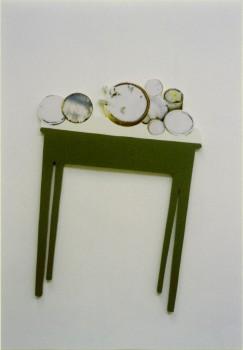 1999-De drie jaargetijden- WINTER- foto's, hout, 140x80x3cm