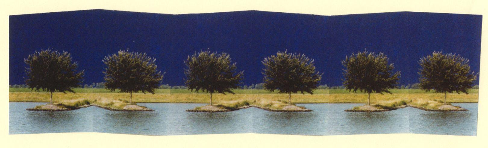 1999-In de roes van het ritme- foto's, lak, 47x165cm