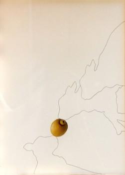 2001-Duwen- collage, inkt,foto's, 73x54cm