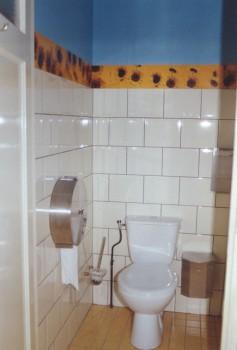 2002-Toepassing toilet restaurant Oliva, R'dam, foto's, lak, 500x20cm