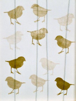 2003-Nabeeld-7- papier,draad, 41x31cm, 2003