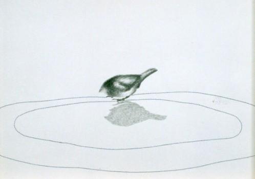 2003-z.t.- oplage van 3, grafiet, draad, 31x41cm