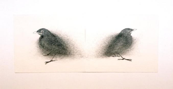 2004-Wachten -1- grafiet en garen op papier, 35x62cm