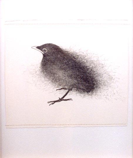2004-Wachten-3- grafiet en garen op papier, 33x28cm