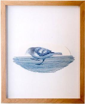 2004-z.t.- kleurpotlood en garen, 28,5x23,5cm