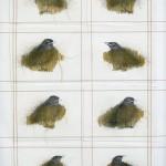 2005-2006-Wachten 6 grafiet, kleurpotlood, garen