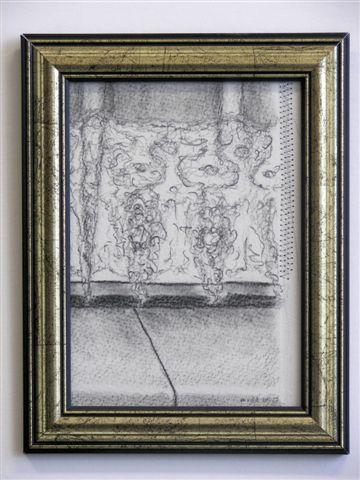 2005-2006-zonder titel, grafiet en aluminiumgaren, 22x17cm