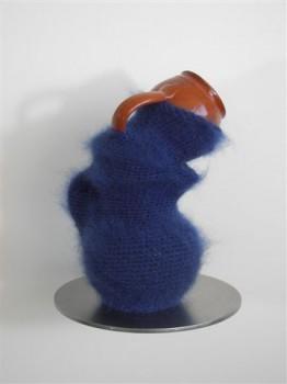 2008-Hangen, aardewerk, wol, 27x16 cm