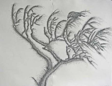 2011-z.t., grafiet en conte op papier, 110x140-cm