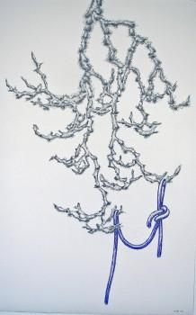 2011-zonder titel, grafiet, conte op papier, 108x71cm