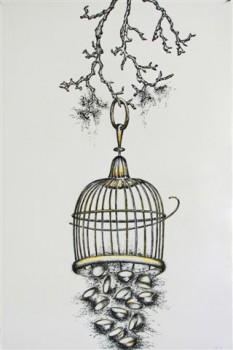 2011-zonder titel, grafiet, conte op papier, 120x90cm
