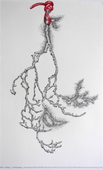 2011-zonder titel, grafiet en conte op papier, 120x82 cm