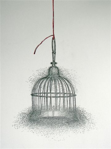 2011-zonder titel, grafiet en kleurpotlood op papier, 67x50cm