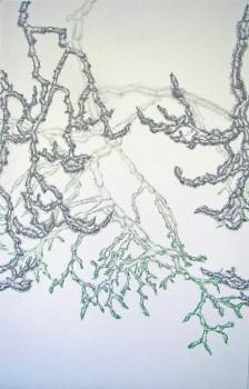 2011-zonder titel, grafiet, kleurpotlood op papier, 108x71cm