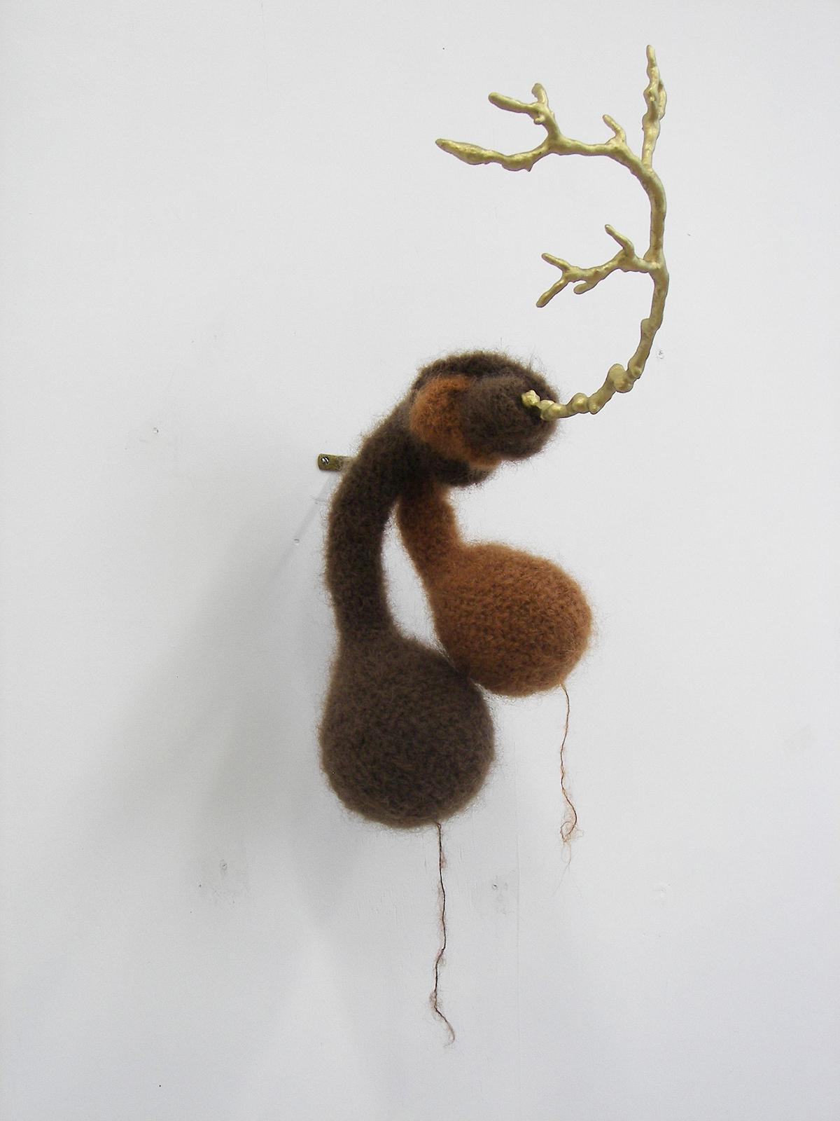2011-zonder titel, wol, hout
