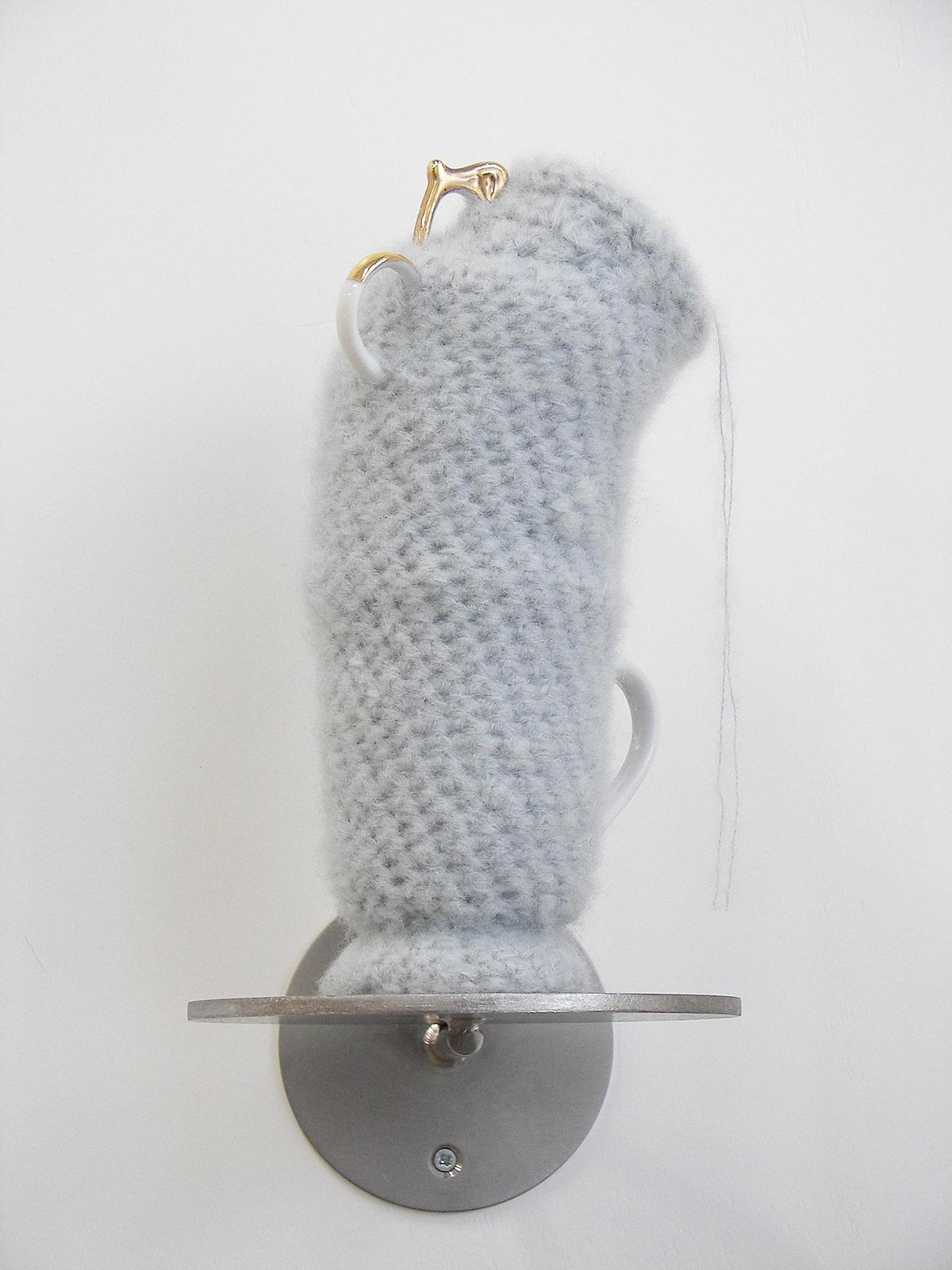 2011-zonder titel, wol, porselein