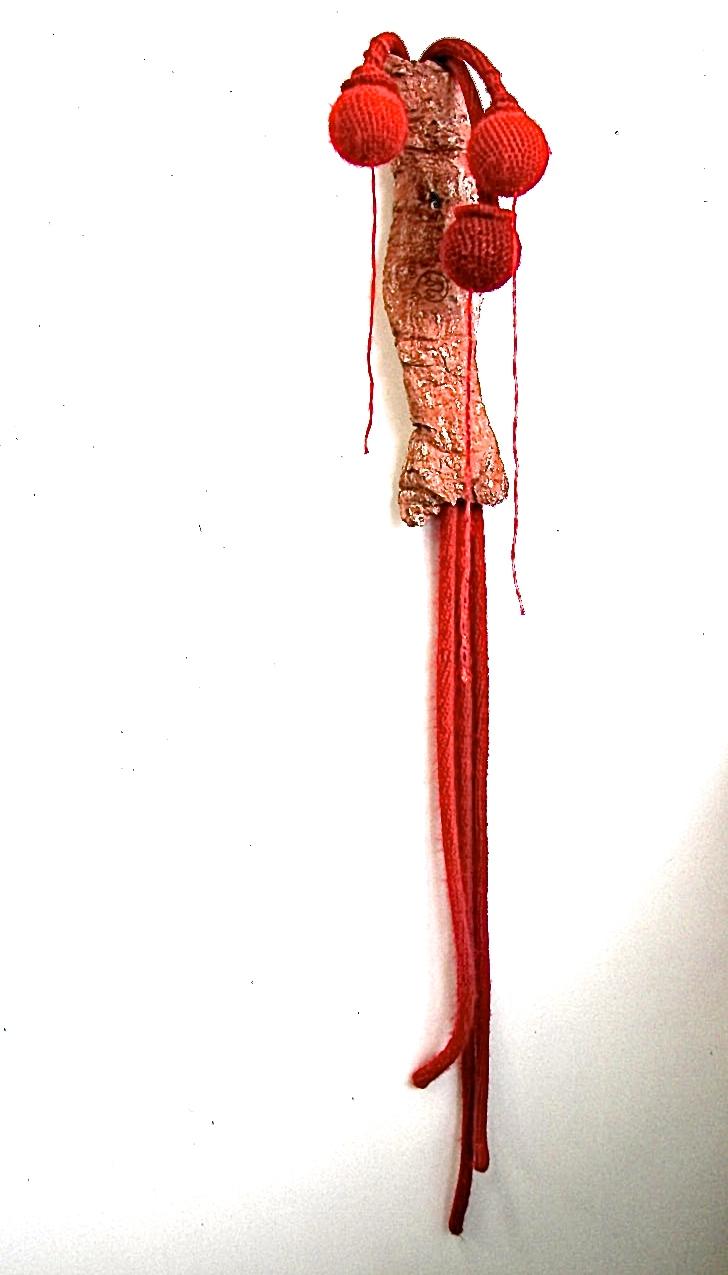 nature morte (1) wol,keramiek, 120x20x13 cm 2014